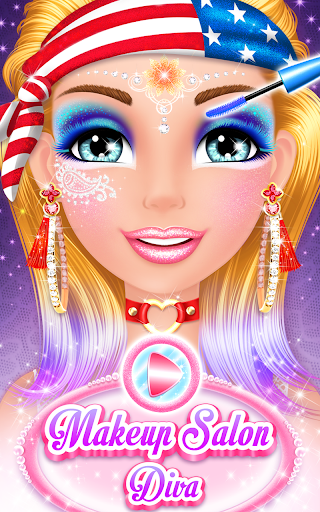 بازی اندروید سالن آرایش دیوا - Makeup Salon : Diva