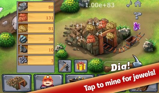 بازی اندروید سرمایه دار معدن - Clicker Mine Idle Tycoon