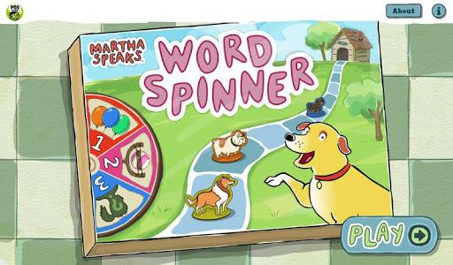 بازی اندروید مارتا صحبت می کند - Martha Speaks Word Spinner
