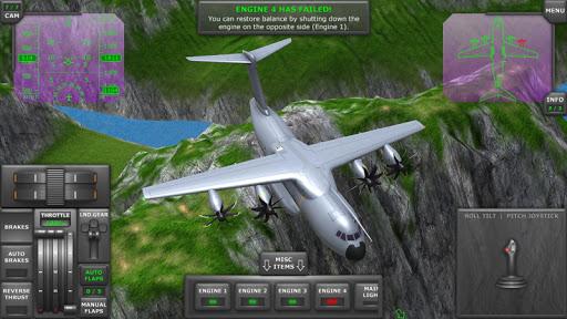 بازی اندروید پرواز با هواپیمای توربوپراپ - Turboprop Flight Simulator 3D