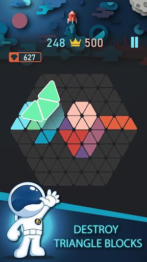 بازی اندروید مثلث بلوک - Trigon : Triangle Block Puzzle Game