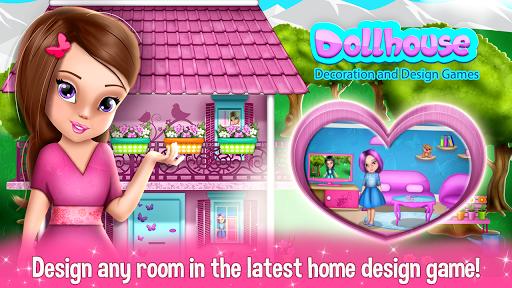 نرم افزار اندروید طراحی دکوراسیون  - Dollhouse Decoration and Design Games 🏠