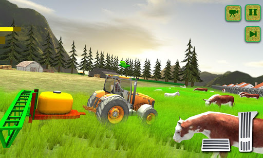 بازی اندروید تراکتور کشاورزی آمریکا - American tractor farming sim