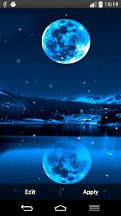 نرم افزار اندروید پس زمینه زنده نور مهتاب - Moonlight Live Wallpaper