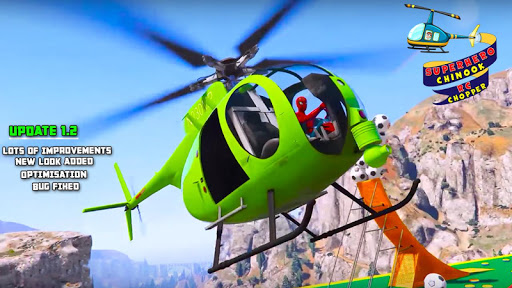بازی اندروید سوپر قهرمان پرواز هلیکوپتر - RC Helicopter Flight: Superhero Race Simulator