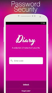 نرم افزار اندروید دفتر خاطرات - Diary with lock