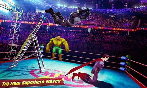 بازی اندروید مسابقات کشتی کج - Superhero Wrestling Tag Team Ring Fighting Arena