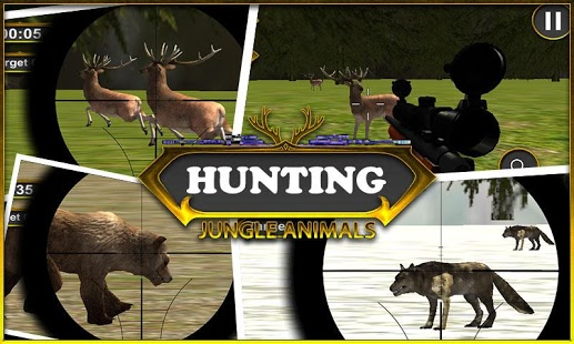 بازی اندروید شکار حیوانات جنگل - hunting Jungle Animals
