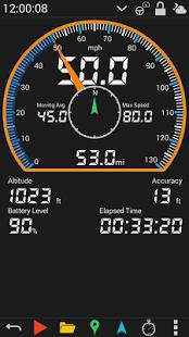 نرم افزار اندروید سرعت سنج - GPS HUD Speedometer Free
