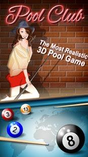 بازی اندروید بیلیارد آنلاین - Pool Club 3D-Online Billiards