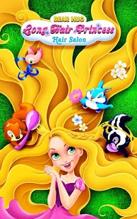 بازی اندروید جادوی موی بلند پرنسس - Long Hair Princess Hair Salon