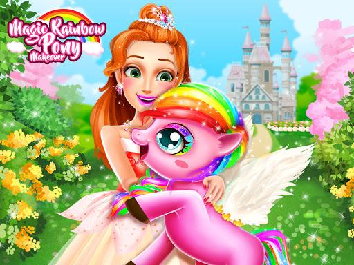 بازی اندروید ساخت رنگین کمان پونی - Rainbow Pony Makeover