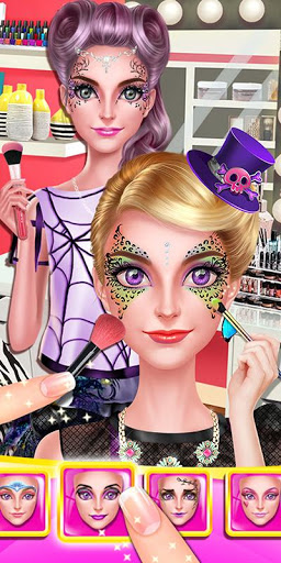 بازی اندروید رنگ صورت دختر - جشن لباس - Face Paint Girl: Costume Party
