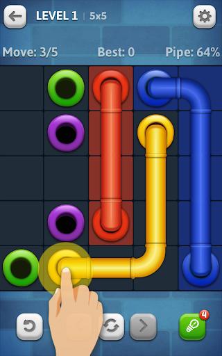 بازی اندروید خط لوله - Line Puzzle: Pipe Art