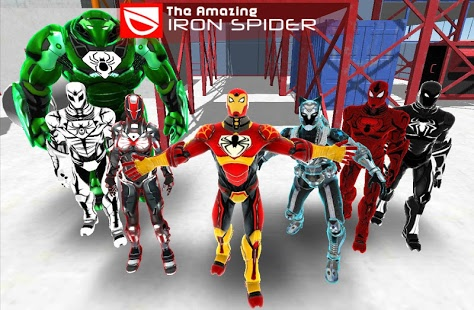 بازی اندروید مرد عنکبوتی آهنی - The Amazing Iron Spider