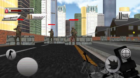 بازی اندروید جنگ شهری کماندو - Commando City War- Free