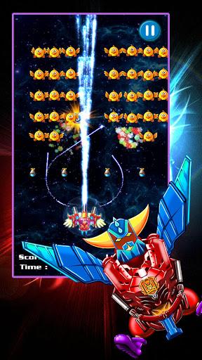 بازی اندروید تیرانداز مرغ - دفاع فضایی - Chicken Shooter: Space Defense