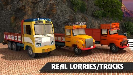 بازی اندروید حمل و نقل با کامیون در تپه - Lorry Truck Hill Transporter