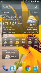 نرم افزار اندروید ویجت آب و هوا و ساعت - Weather & Clock Widget Android