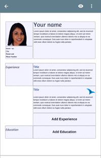 نرم افزار اندروید رزومه ساز رایگان - Free Resume App