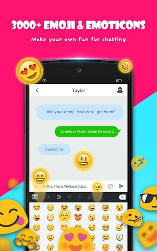 نرم افزار اندروید فلش کیبورد - Flash Keyboard - Emoji & Theme