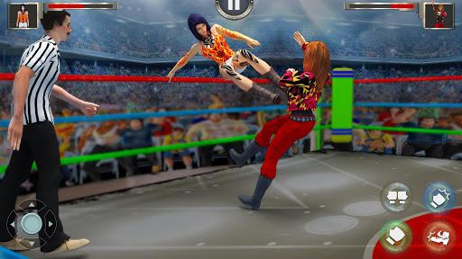 بازی اندروید کشتی کج زنان - Women Wrestling Revolution PRO