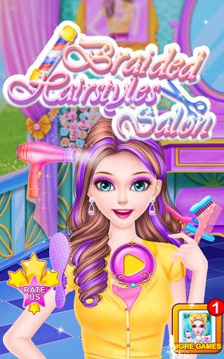 بازی اندروید آرایشگاه بافتن مو - Braided Hairstyles Salon