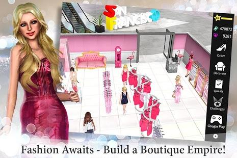 بازی اندروید امپراتوری فشن - بوتیک - Fashion Empire - Boutique Sim