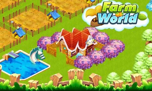 بازی اندروید دنیای مزرعه - Farm World