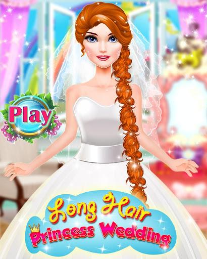 بازی اندروید داستان عروسی شاهزاده خانم - Long Hair Princess Wedding Love Story