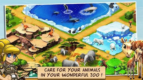 بازی اندروید باغ وحش حیرت انگیز - Wonder Zoo - Animal rescue !