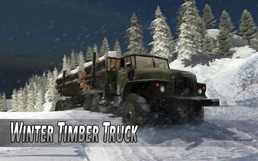 بازی اندروید کامیون زمستان - Winter Timber Truck Simulator