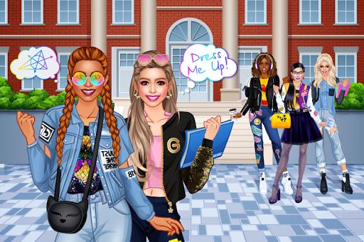 بازی اندروید انتخاب لباس دختران دانشجو - College Student Girl Dress Up