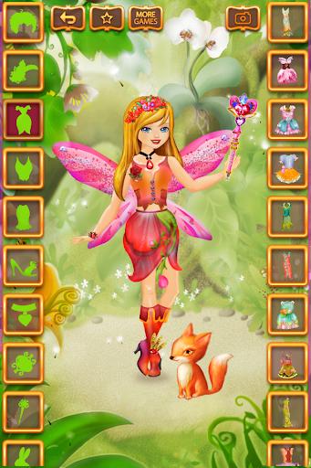 بازی اندروید لباس دختران پری - Fairy Dress Up for Girls Free