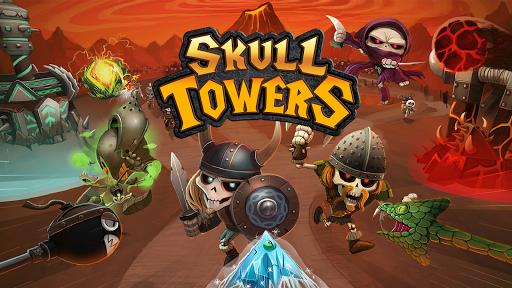 بازی اندروید برج های جمجمه بهترین بازی آفلاین دفاع قلعه - Skull Towers: Best Offline Games Castle Defense