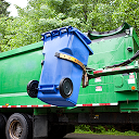 راننده کامیون زباله