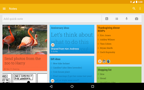 نرم افزار اندروید گوگل کیپ - یادداشت و لیست - Google Keep - notes and lists