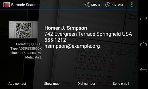 نرم افزار اندروید بارکد اسکنر - Barcode Scanner