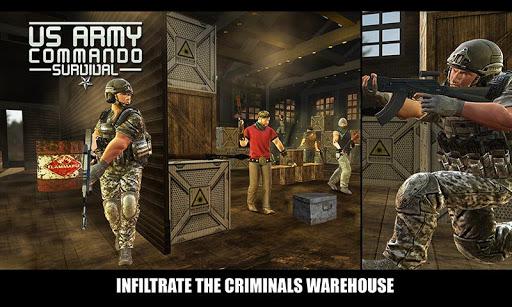 بازی اندروید تسلیحات تک تیرانداز ارتش آمریکا - US Army Commando Survival - FPS Shooter