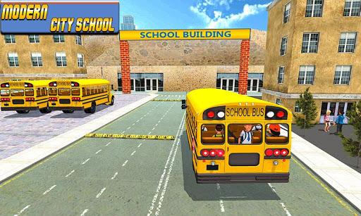 بازی اندروید اتوبوس مدرسه 2017 - Modern City School Bus Simulator 2017