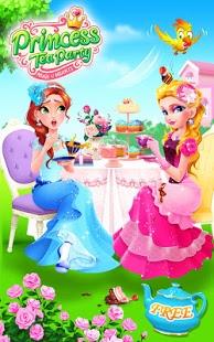 بازی اندروید مهمانی چای پرنسس - Princess Tea Party Salon
