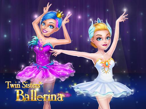 بازی اندروید خواهران دوقلو بالرین - رقص باله و لباس - Twin Sisters Ballerina: Dance, Ballet, Dress up