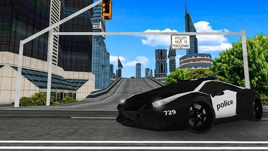 بازی اندروید رانندگی ماشین پلیس - City Police Car Driving Game