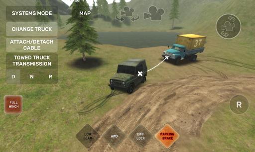 بازی اندروید اتومبیل آفرود - Dirt Trucker: Muddy Hills