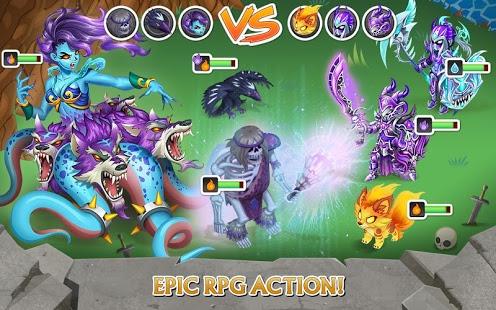 بازی اندروید شوالیه و اژدها - Knights & Dragons - Action RPG