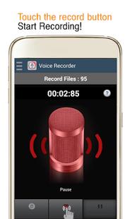 نرم افزار اندروید ضبط کننده صدا - Voice Recorder -  MP3 Record