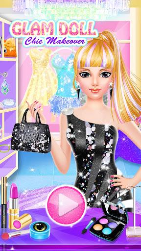 بازی اندروید سالن زیبایی عروسک - Glam Doll Chic Makeover Salon