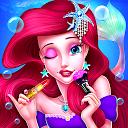 آرایش شاهزاده خانم پری دریایی - دختر سالن مد