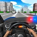 رانندگی با ماشین پلیس