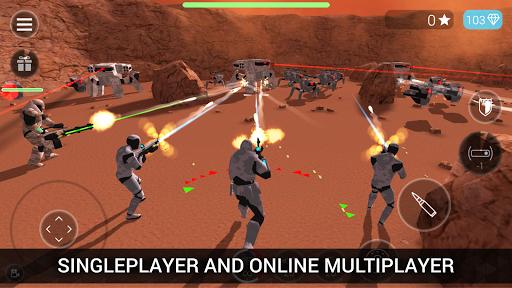 بازی اندروید مبارزه آنلاین ربات ها - CyberSphere: TPS Online Action Game